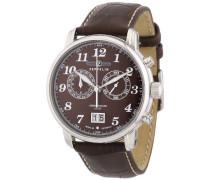 Herren-Armbanduhr XL LZ127 Graf Chronograph Quarz Leder 76843