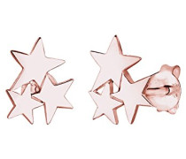 Damen-Ohrringe Ohrstecker Sterne Stern Astro Trend Filigran rosé vergoldet silber 925