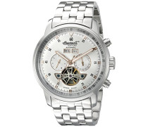 Unisex Automatic Watch with Silber Dial Analogue Display and Silber Stainless Steel Strap IN4511SLMB