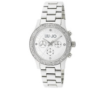 Damen-Armbanduhr Steeler Pavé Chronograph Quarz Edelstahl LJW-TLJ440