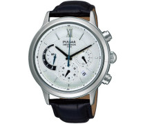 Uhren Herren-Armbanduhr XL Klassik Chronograph Quarz Leder PU6005X1