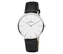 Herren-Armbanduhr Classico Analog Quarz Leder
