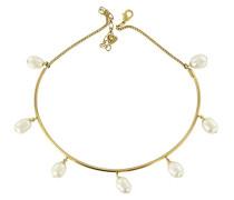 Gilda Drehmoment  Halskette Messing, mit Perlen, 22 cm