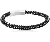 Sterub schwarz und Edelstahl, Armband, 20 cm