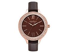 Caravelle New York Damen-Armbanduhr Analog Quarz Leder 44L124