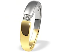 Goldmaid Damen-Verlobungsring Bicolor Gold 585 1 Brillant 0,10ct Gr. 54 So R509BI54