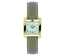 5th Avenue Women'- Armbanduhr Analog Quarz Leder Beige, 17037/P19TA