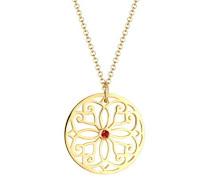 Premium Halskette Ornament Swarovski Kristalle 925 Silber vergoldet 0112992216