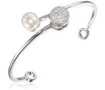 Damen-Armreif Hollywood Vergoldet rhodiniert Zirkonia weiß Synthetische Perle Weiß - BHOBBB10