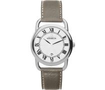 Herren-Armbanduhr Analog Leder Beige 19467/08TA