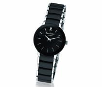 006K938Damen-Armbanduhr–Quarz Analog–Zifferblatt schwarz Armband Stahl und Keramik Schwarz