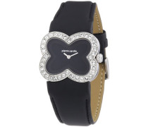 Pierre Cardin Damen-Armbanduhr Petales Analog Quarz Leder