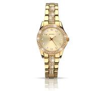 Damen Armbanduhr mit Gold Zifferblatt Analog-Anzeige und Gold Legierung Armband 2020.27