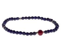 Herren Bracelet 925 Sterling-Silber Rundschliff Lapisl Lazuli