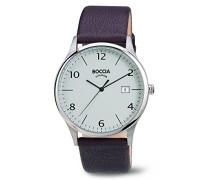 Boccia Herren-Armbanduhr Analog Quarz Leder 3585-02