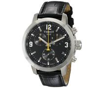 Herren-Armbanduhr XL Chronograph Quarz Leder T055.417.16.057.00