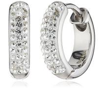 Crystelle Damen-Creolen mit weißen Swarovski Kristallen 340210022