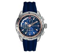 Nautica Herren-Armbanduhr Chronograph Quarz Silikon NAI19505G