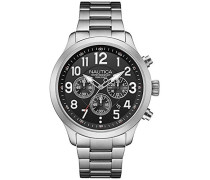 Herren-Armbanduhr Chronograph Quarz Edelstahl NAI18508G