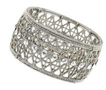 Silber breit filigranes Stretch Kristall 17 cm