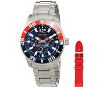 Nautica Herren-Armbanduhr Analog Quarz Edelstahl NAI16500G