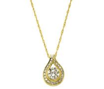 Damen Halskette 9 Karat (375) Bicolor Zirkonia 43.0 cm weiß 500341164-2-43