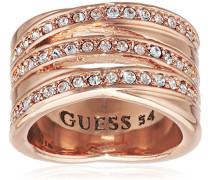 Damen-Ring Metalllegierung Glas weiß