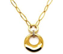 M&M Damen-Halsband Vergoldet Zirkonia weiß MN-2003
