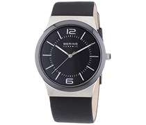 Bering Time Herren-Armbanduhr XL Analog Quarz Leder 32239-000