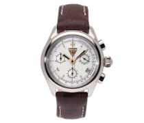 Damen-Armbanduhr Chronograph Quarz Leder 62891
