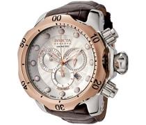 Herren-Armbanduhr Chronograph Edelstahl weiss 359