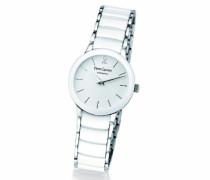 006K900–Uhr Analog Quarz Damen-Armband Keramik Weiß