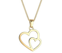 Damen-Kette mit Anhänger Herz 925 Silber    45 cm - 0112810414_45