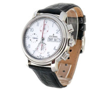 Herren-Armbanduhr XL Chronograph Automatik Leder 17072.6133