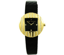 Damen-Armbanduhr Analog Quarz Leder DHCV08320NZ