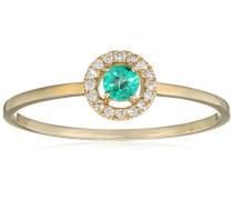 Damen-Ring 9 Karat (375) Gelbgold Smaragd-badm 07036-0001