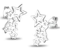 Damen Ohrstecker Sterne Astro Trend Cut Out Filigran Sternenhimmel Blogger 925 Sterling Silber