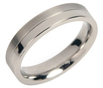 Boccia Damen-Ring teilpoliert Titan GR.58 0129-0158