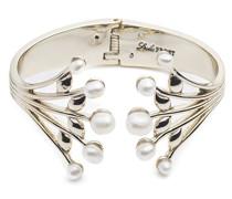 Damen-Armband Messing Glas Grau Rundschliff
