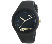 Puma Time Damen-Armbanduhr PU-FORM BLACK GOLD Analog Quarz Silikon PU103001014