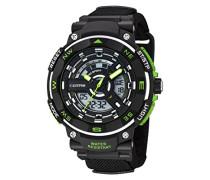 Calypso Herren Armbanduhr mit LCD-Zifferblatt Analog Digital Display und schwarz Kunststoff Gurt k5673/3