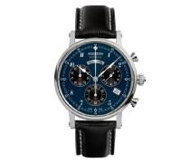 Zeppelin Damen-Armbanduhr Nordstern Chronograph Quarz Leder 75773
