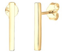Damen-Ohrringe Ohrstecker Stab Geo Minimal Trend Blogger Filigran Linie vergoldet silber 925