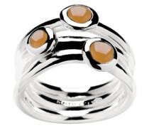 Marc O´Polo Damen Ring 925/- Sterlingsilber mit drei orangen Mondsteinen rhodiniert 54 (17.2)  BA9190210262
