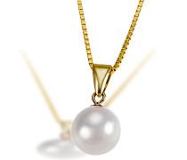Damen-Halskette Pearls 585 Gelbgold 1 Akoya Perle Kettenanhänger Schmuck Perlenkette