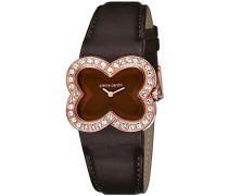 Damen-Armbanduhr Pétales Analog Quarz Leder