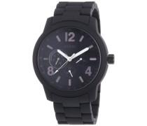 Herren-Armbanduhr XL Mens Trend Multifunktion Analog Quarz Edelstahl beschichtet W0185G1