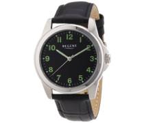 Herren-Armbanduhr XL Analog Handaufzug Leder 11020028