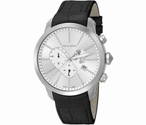 Pierre Cardin Herren-Armbanduhr Lion Chercher Chronograph Quarz Leder PC105441S09