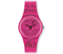 Swatch Quarzuhr Unisex Time Never Dies Pink  34 mm